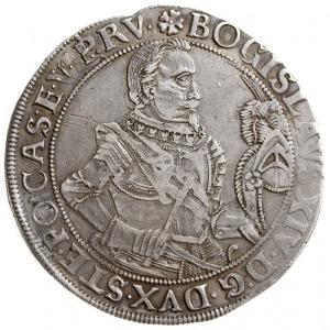 talar 1629, Szczecin, Aw: Popiersie i napis, Rw: Ukoron...