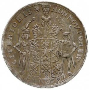 2/3 talara (gulden), 1697, Szczecin, srebro 17.28 g, AA...