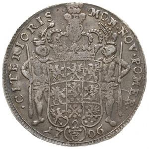 2/3 talara (gulden) 1706, Szczecin, litery IM pod popie...