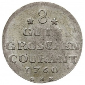 8 gute groschen = 1/3 talara, 1760 O.H.K., Strzałów, AA...