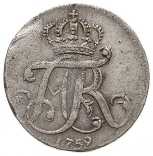 4 gute groschen = 1/6 talara, 1759, Strzałów, odmiana z...
