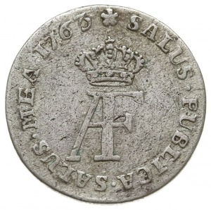 1/12 talara (dwugrosz), 1763, Strzałów, odmiana z liter...