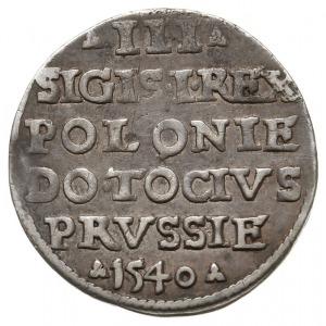 trojak 1540, Elbląg, Iger E.40.1.b (R2), patyna