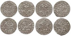 zestaw półgroszy litewskich: 1547, 1549, 1550 i 1551, W...