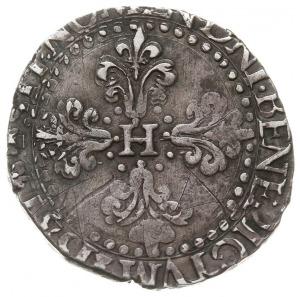1/2 franka, 1587H, La Rochelle, dwukrotnie uderzony ste...