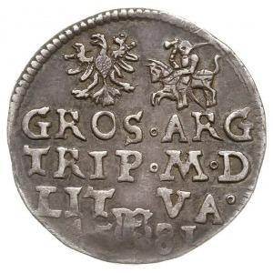 trojak 1581, Wilno, odmiana z cyfrą III w owalnym kartu...