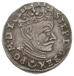 trojak 1581, Wilno, z herbem Leliwa (podskarbiego litew...