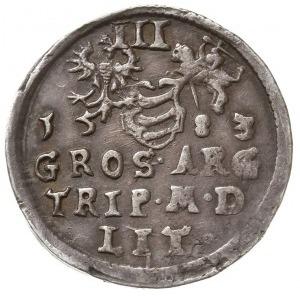 trojak 1583, Wilno, odmiana z herbem Leliwa pod mniejsz...