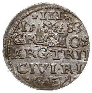 trojak 1583, Ryga, Iger R.83.1.e (R1), Gerbaszewski 9, ...
