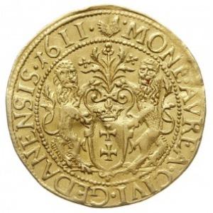 dukat 1611, Gdańsk, Aw: Popiersie króla w prawo i napis...
