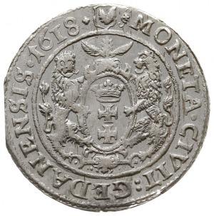 ort 1618, Gdańsk, odmiana z łapą niedźwiedzia, dwukrope...