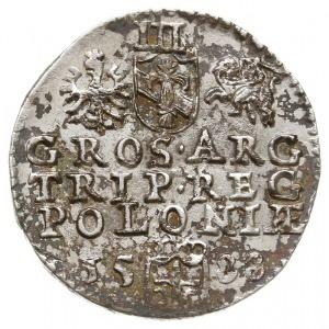 trojak 1588, Olkusz, odmiana z dużą głową króla, Iger O...