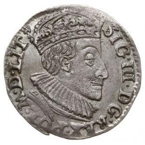 trojak 1589, Olkusz, na rewersie herb Przegonia i inicj...