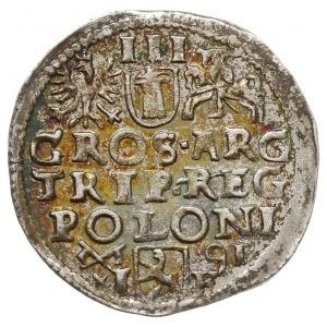 trojak 1591, Poznań, na rewersie herby nieco większe, I...