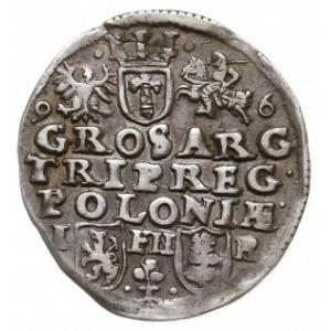 trojak 1596, Poznań, końcówka napisu na awersie M.D.L.,...
