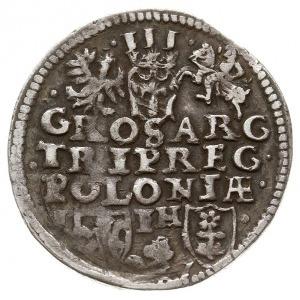 trojak 1597, Poznań, odmiana bez litery R w inicjale He...