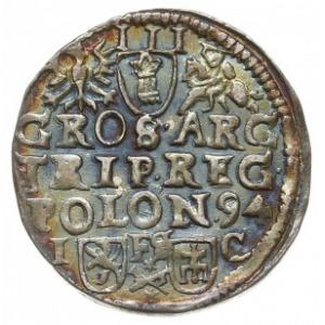 trojak 1594, Bydgoszcz, odmiana z napisem SIG 3 i bez l...