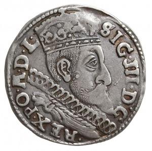 trojak 1598, Bydgoszcz, na rewersie dwa krzyżyki przy c...