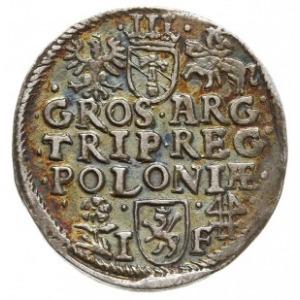 trojak 1595, Wschowa, Iger W.95.4.c (R), różnobarwna pa...