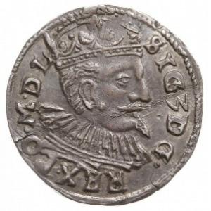 trojak 1597, Lublin, data 9-7 po bokach Orła, u dołu z ...