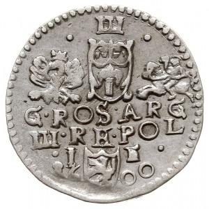 trojak 1600, Lublin, popiersie króla z kryzą, na rewers...