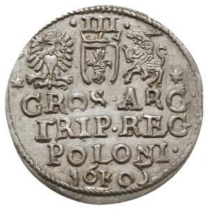 trojak 1605, Kraków, odmiana z cyfrą 5 wyglądającą jak ...