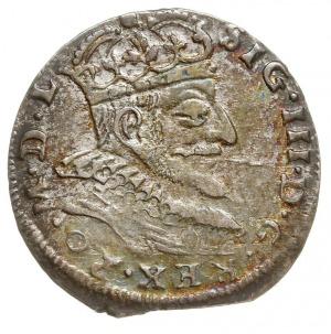 trojak 1590, Wilno, z herbem podskarbiego Demetriusza C...