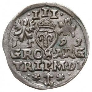 trojak 1593, Wilno, data pod Orłem i Pogonią, cyfry dat...