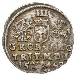 trojak 1598, Wilno, rzadko spotykane popiersie króla, n...