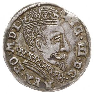 trojak 1599, Wilno, na rewersie herb Łabędź (Andrzeja Z...