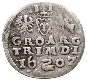 trojak 1602, Wilno, na rewersie herb Łabędź przedziela ...