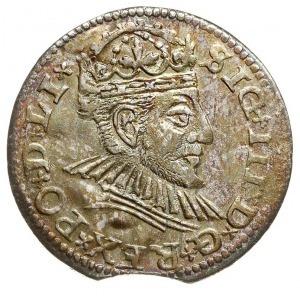trojak 1590, Ryga, odmiana z mniejszym popiersiem króla...