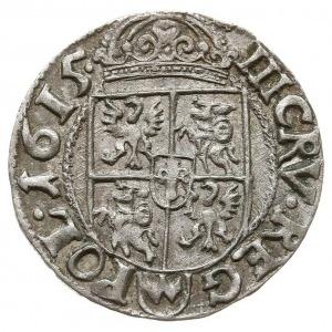 trzykrucierzówka 1615, Kraków, Kop. 887 (R1), ładny egz...