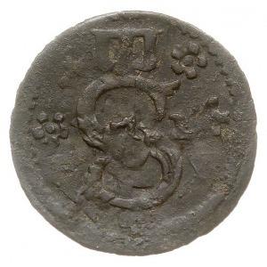 ternar 1624, Łobżenica, Aw: Monogram króla, po bokach r...