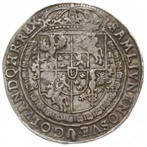 talar 1633, Bydgoszcz, Aw: Półpostać króla, niżej, po w...