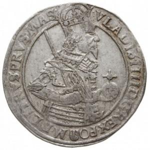talar 1636, Bydgoszcz, Aw: Półpostać króla, niżej herb ...