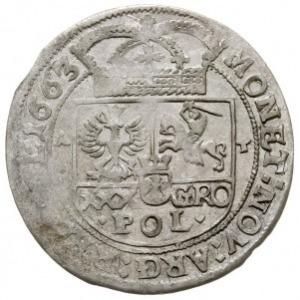 tymf (złotówka) 1663, Bydgoszcz, inicjały A-T (Andrzej ...