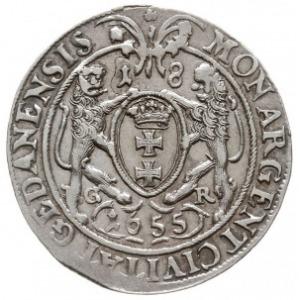 ort 1655, Gdańsk, bez kwiatka na końcu napisu otokowego...