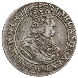 ort 1662, Gdańsk, odmiana ze znakiem lewka w tarczy dzi...