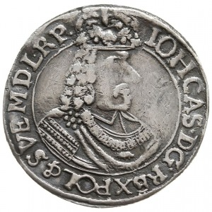 ort 1665, Toruń, na rewersie litery HD-L (inicjały Hans...