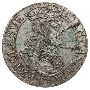 szóstak 1660 TLB, na awersie herb Ślepowron bez obwódki...
