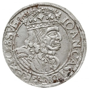 szóstak 1661 GB-A, Lwów, na awersie herb Ślepowron bez ...