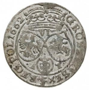 szóstak 1662 AT, Kraków, herb Ślepowron na rewersie, le...