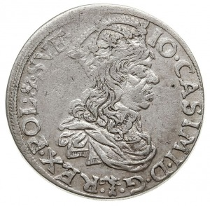 szóstak 1660 TLB, Kraków, bardzo ładny portret króla