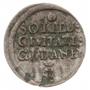 szeląg 1670, Gdańsk, mniejszy monogram królewski, Tyszk...