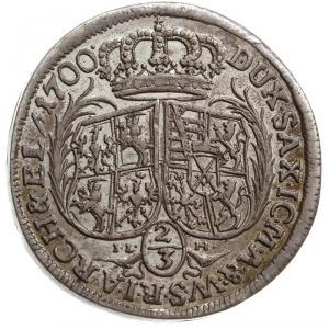 2/3 talara (gulden) 1700, Drezno, litery IL - H (inicja...