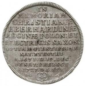 2/3 talara (gulden) 1727, Drezno, Aw: Cyprys, Rw: Napis...