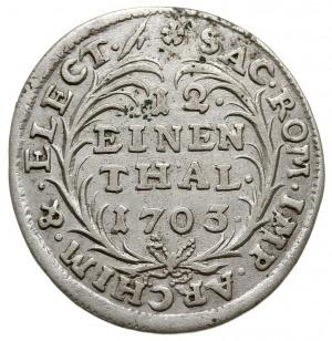 1/12 talara (dwugrosz) 1703, Drezno, litery IL - H, Kah...