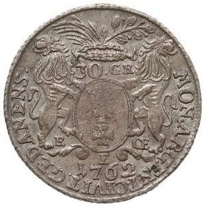 30 groszy (złotówka) 1762, Gdańsk, odmiana z dużym wień...