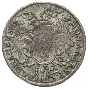 30 groszy (złotówka) 1762, Gdańsk, odmiana z mniejszym ...